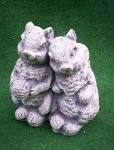 Betong ekorrar (GA14) Vikt: 15 kg Mått (H): 20 cm