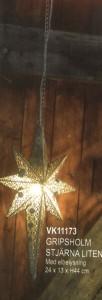 Gripsholm Julstjärna liten med elbelysning (VK11173) Mått (H x B x D): 44 x 24 x 13 cm